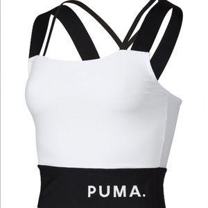 NWT PUMA White Chase Crop Top- size Medium